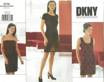 Vogue 2115 / Designer Sewing Pattern / Donna Karan DKNY / Dress Skirt Top