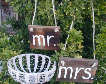 Ready to Ship Lowercase mr and mrs Large Western Rustic Wedding Sign Bridal Barn Wood Bride Groom Hanging