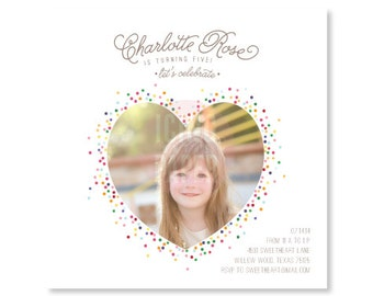 Sprinkle Birthday Party Invitation - Confetti Birthday Party Invitation - baby shower invitation - DIGITAL FILE