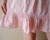 Recycled  Upcycled  under skirt linen light pink skirt layer under tutu