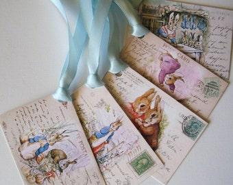 DIY Peter Rabbit - Beatrix Potter - Instant Download 5 Peter Rabbit GIft Tags - Digital File - pdf