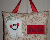 Personalized BASEBALLS Tooth Fairy Pillow