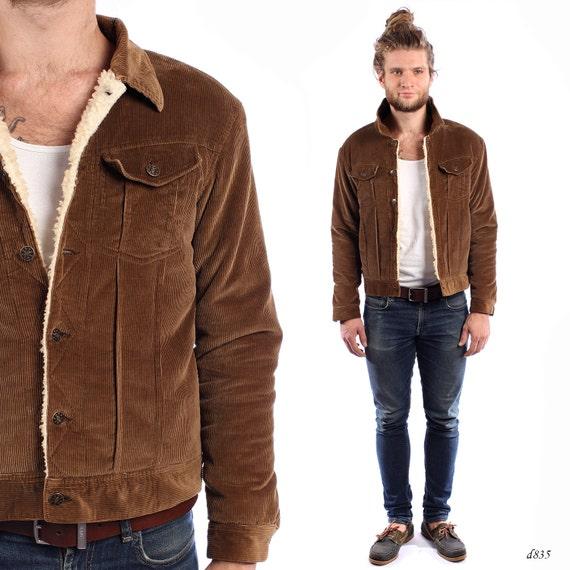 Faux Fur Corduroy Jacket Insulated Jacket By Betamenswear