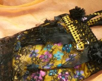 Floral Bag, Black Lace Bag, Black Purse by gothB4play