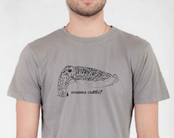 Cuttlefish T Shirt, Cuttlefish, Mens Shirt, Short Sleeve, Unisex, geekery, funny shirt