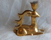 Beautiful Brass Deer Candle Holder A Forest Friend for your Woodland Decor