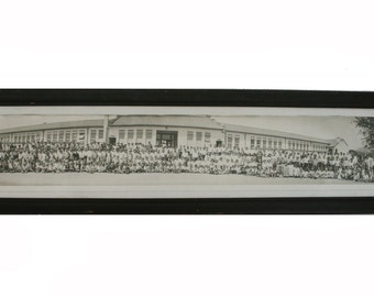 1920's B&W School Panoramic Photo