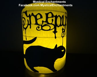 Halloween Lantern Luminary Creepy Rat