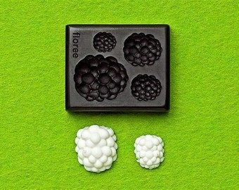 Raspberry mold. Floree miniature fruit mould. 4 sizes of raspberries. Good with clay for decoden, minatures and deco sweets.