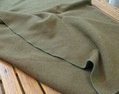 WWII Army Blanket Wool Olive Drab- Camping Cabin
