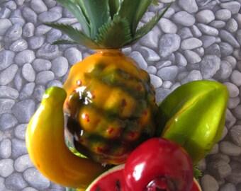 Tropical fruits hair Cluster Clip - Carmen Miranda Style - Burlesque - retro -