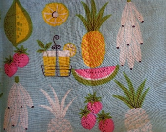 Vintage Handkerchief with Fruit Theme