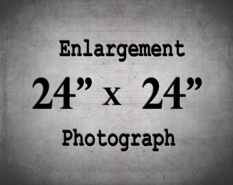 Large Wall Art, 24x24, Photography Print, Custom Enlargement