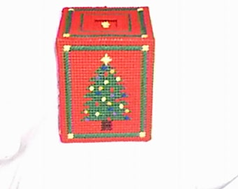 PDF Plastic Canvas Pattern Christmas Tree Tissue Box Cover