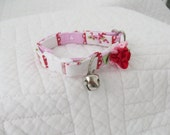 Shabby Chic Cat Collar Bell  Cat  Breakaway Collar Custom Made