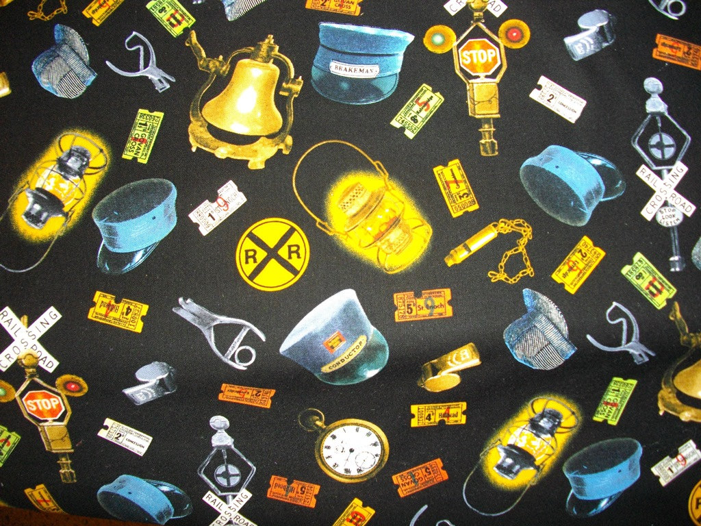 Train pattern fabric for Fabric with trains pattern