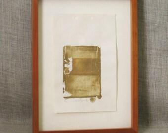 Fine Art Print , Mud , Organic Art , Carla Wilczak Print , Cleveland , Ohio , Busta Gallery , Signed Print , Vintage Art , Framed Print