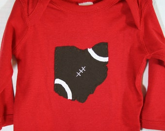 State of Ohio FOOTBALL Baby bodysuit, Ohio Football, Father's day gift