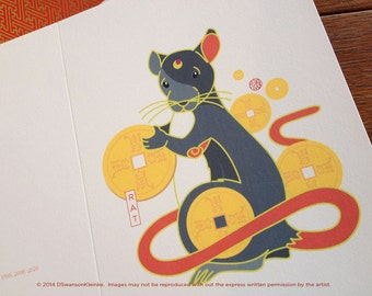 Rat Chinese New Year Card - Chinese Zodiac Mouse