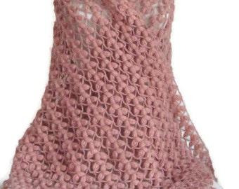 Crochet  shawl ..wedding bridal shawl.knitting, fashion,shrug,stole, capelet, cream, women, scarflette,