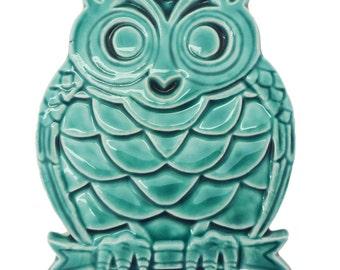 Vintage Ceramic Owl Trivet
