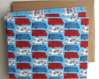 Food Trucks Note Card