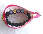 Essential Oils Travel/Sample Pouch Holds 16 1-2ml 5/8dram Sized Bottles CHOOSE YOUR FABRIC