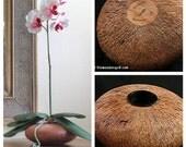 Free Shipping Beechwood Flower Vessel - White Silk Orchid