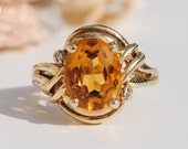 RESERVED for RENEE - 14K Gold and Citrine Ring