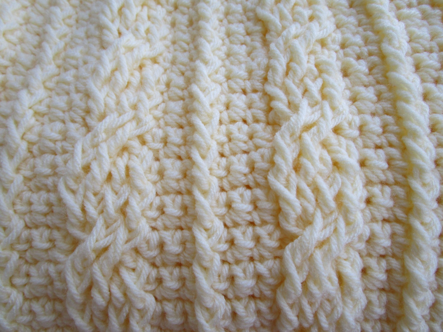 Crochet Cable Stitch Instructions : Crochet Cables Stitch Blanket Pattern afghan pattern crochet