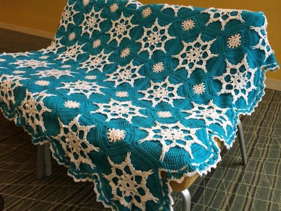Elsa frozen inspired snowflake afghan crocheted blanket will be made