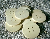Wood Buttons - 10 Round Handcrafted Wooden Buttons From MAPLE Wood, 2 1/2 inches in diameter, Reserved For IVLX