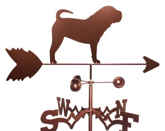 Hand Made Shar Pei Dog Weathervane New