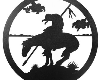 Hand Made End Of Trail Horse Scenic Art Wall Design *NEW*
