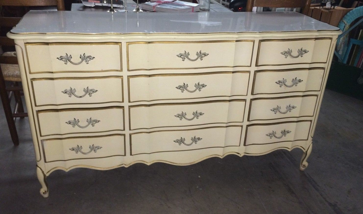 Dixie French Provincial 12 Drawer Dresser Vintage