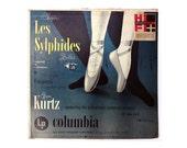 "Alex Steinweiss record album design, 1950. ""Chopin Les Sylphides Ballet / Villa-Lobos Uirapurú"" LP"