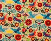 Laminated Cotton Oilcloth splat mat SELECT THE SIZE La Paloma tea stained by Alexander Henry