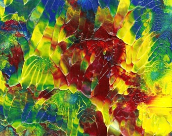 Island View Abstract Original Acrylic painting
