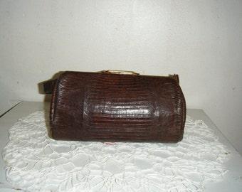 Petite Lizard Skin Handbag