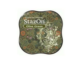 StazOn Olive Green