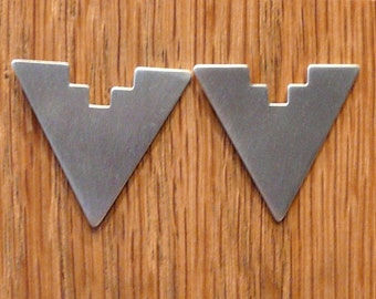 Sterling Silver Brushed Earrings