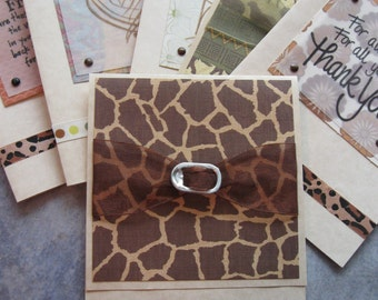 animal print birthday and thank you card assortment