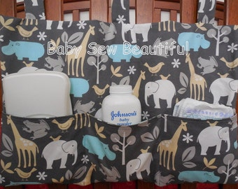 Custom Hanging Crib Organizer or Toy Bag- You Choose the Fabrics