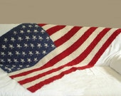 KNITTING PATTERN- American Flag Blanket PDF knitting pattern