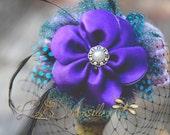 Newborn lavender crochet pillbox hat