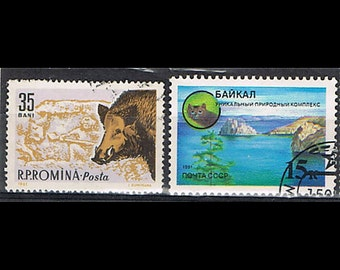 33  Postage Stamps - Animals