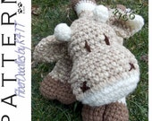 INSTANT DOWNLOAD : KISS Series - Cow Crochet Pattern