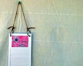 Hanging Birthday Calendar - Nature Themed Illustrations - 4.25 x 11 - Perpetual Calendar - 4 1/4 x 11