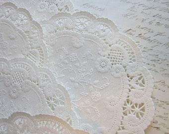 50 paper doilies - 6 inch - white, paper lace