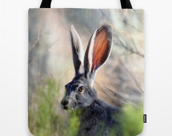 Jack Rabbit Tote Bag - Wildlife Photo Tote